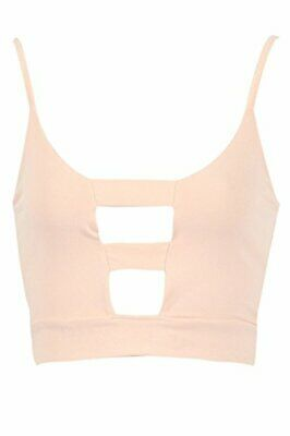 £6.99 • Buy Womens Cut Out Cage Detail Bralet Cami Crop Top UK Size 8-14