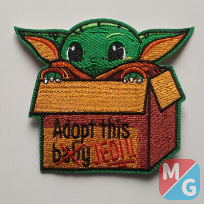 £5 • Buy Star Wars The Kid Yoda Iron On/ Sew On Embroidered Patch Mandalorian