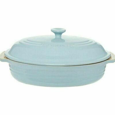 £64.99 • Buy Le Creuset Blue Oval Casserole Dish Pan With Lid  NEW