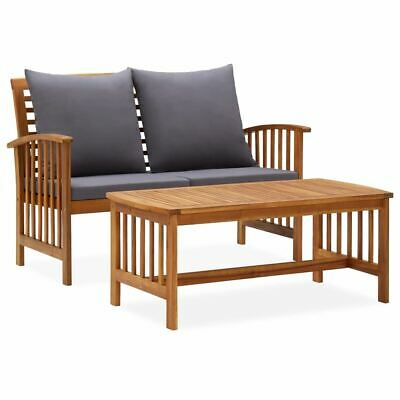 AU328.85 • Buy Wooden Bench And Table With Cushions Vintage Outdoor Patio Lounge Set Furniture