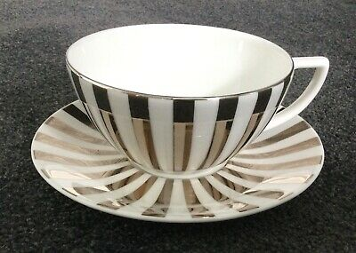 £27 • Buy Brand New Jasper Conran At Wedgwood Bone China Gilt Striped Cup And Saucer