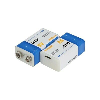 AU41.14 • Buy 9V Rechargeable Battery Micro USB Batteries 1000mAh For Toy Remote Control 2 Pcs