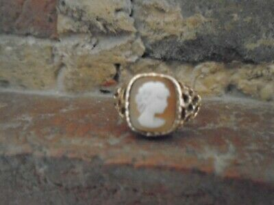 £50 • Buy 9ct Gold Cameo Ring