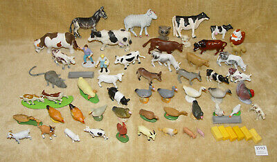 £14.99 • Buy Huge Bulk Collection Of 62 Plastic Toy Farm & Domestic Animals Cows Goats Farmer