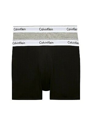 £14 • Buy Brand New Two Pack Grey And Black Calvin Klein Classic Fit Boxers. Size Medium