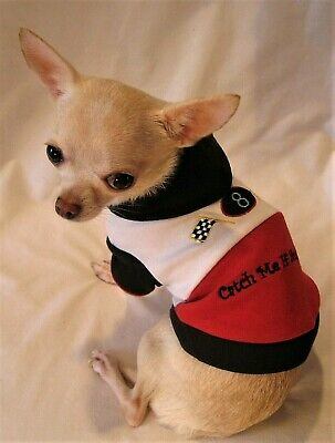 £9.36 • Buy Dog Hoodie/Dog Clothes/Catch Me Dog Hoodie/XS,S,M,L FREE SHIPPING