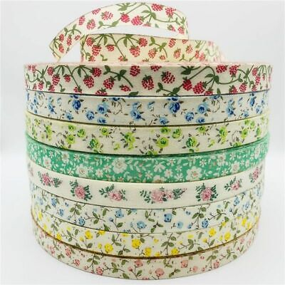£3.50 • Buy 5yards Flower Cotton Ribbon Design For Christmas Decoration DIY Apparel Sewing