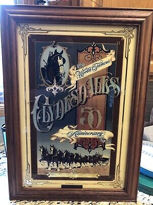 $ CDN365.05 • Buy Budweiser Limited Ed #340 Famous Clydesdale 50th Anniversary Beer Mirror Sign