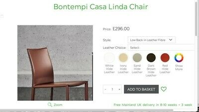£995 • Buy Calligaris Bontempi Casa Linda Dark Brown Real Leather Very Lightly Used