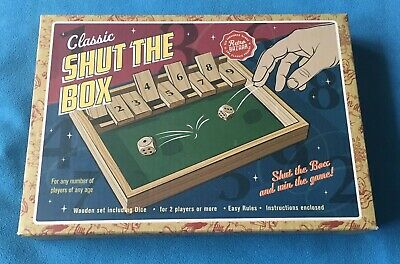 £6.99 • Buy Retro Bazaar - Classic Wooden Shut The Box Game