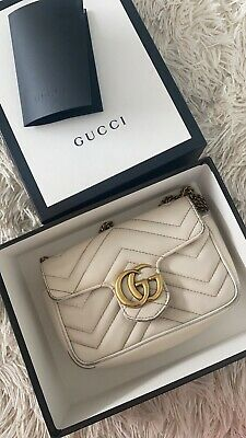 AU800 • Buy White Gucci GG Marmont Bag Leather