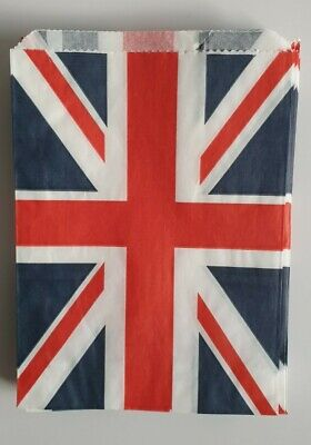 £3.25 • Buy 50pcs 5x7  Union Jack Paper Bags. Sweets/Craft/Party