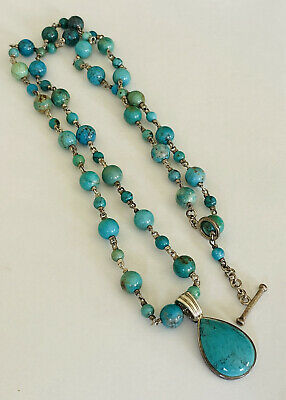 $ CDN157.28 • Buy Gorgeous Whitney Kelly WK Sterling Silver Turquoise Necklace Enhancer Pendant