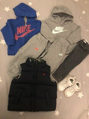 £10 • Buy Boys Ralph Lauren Reversible Gilet, River Island, Nike Outfits Age 12-18 Months