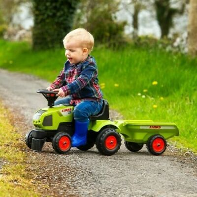 £37.95 • Buy Kids Ride On Tractor Steering Push Toy WITH Trailer Toddlers Garden Outdoor Fun