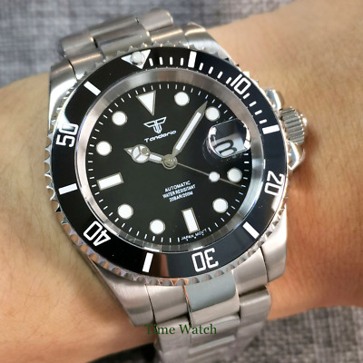 $ CDN100.43 • Buy Diving Sterile Automatic Men's Watch NH35 Black Dial 200M Waterproof Sapphire