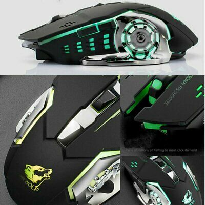 £8.79 • Buy Gaming Mouse LED Wireless Mice For PC Laptop Computer Silent Rechargeable Black