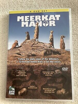 £2.15 • Buy MEERKAT MANOR 4 Disc Dvd Set Animal Planet Narrated By Bill Nighy