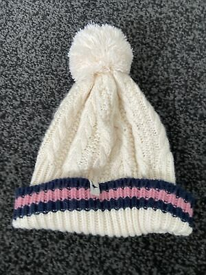 £0.99 • Buy New Jack Wills Cream Cable Knit Bobble Hat One Size