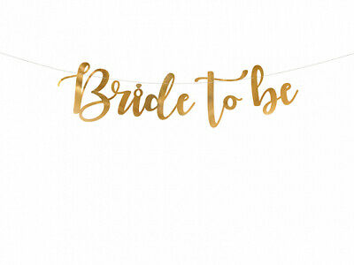 £2.99 • Buy Bride To Be Gold Banner Wedding Bridal Shower Hen Do Engagement Party Decor
