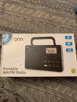 £11.99 • Buy Onn AM/FM Digital Portable Electric And Battery Powered