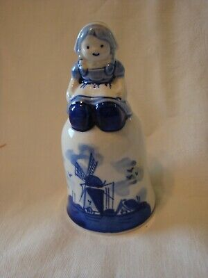 £7.77 • Buy Delft Blue Bell Windmill Hand Painted GUC