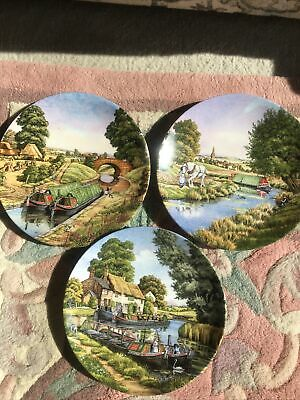 £7.99 • Buy 3 Royal Worcester  Romance Of The Waterways  Roger Kent Ltd Ed Collector Plates