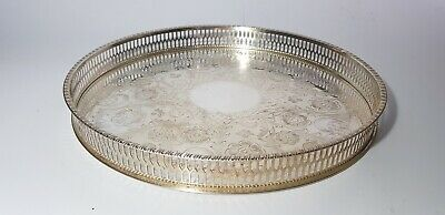 £15 • Buy Viners Of Sheffield Chased Silver Plated Gallery Tray Pierced Rim 26cm