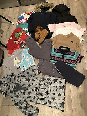£10 • Buy Boys Clothes Bundle Age 4-5/6 Years Next, Carter's, Timberland Boots - 19 Items