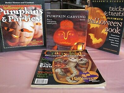 $ CDN12.04 • Buy Halloween Decor Costume Craft Book Lot Of 4*Quality Hard Cover Books Adults Kids