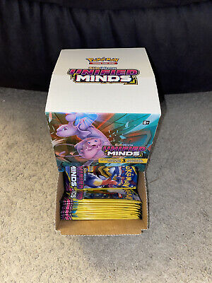 $194.74 • Buy 96 Pokemon Unified Minds 3-Card Packs Full Booster Box New 288 Cards Look