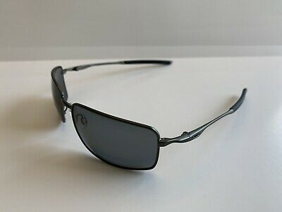 AU154.53 • Buy OAKLEY AUTHENTIC SUNGLASSES Square Wire OO4075-04 Carbon/Grey Polarized NEW