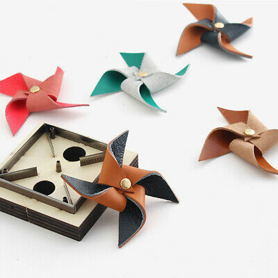 £8.59 • Buy DIY Leather Windmill Punch Tool Mold Steel Mould Wooden Die Cut Handcraft Making