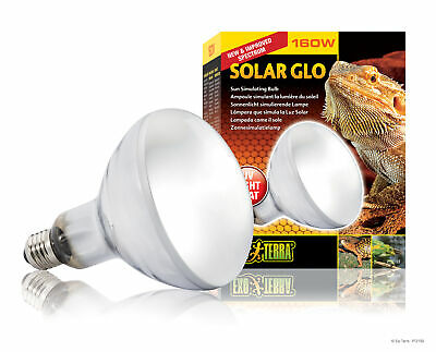 £56.58 • Buy Exo Terra Solar Glo 160W Heat And UVB Lamp For Reptiles And Amphibians