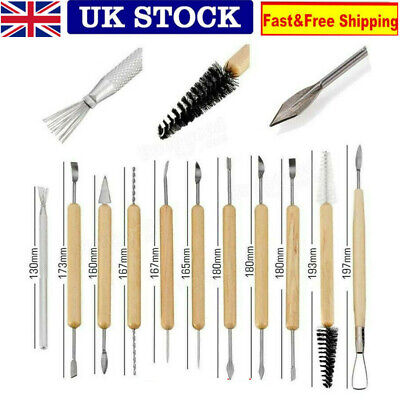 £6.98 • Buy Polymer Clay Tools For Adults 11pcs Pottery Sculpting Wooden Pottery Carving Set