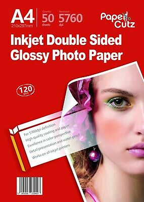 £9.95 • Buy A4 Double Sides Gloss Inkjet Thick Photo Paper 120Gsm 100 Sheets Whole Sale