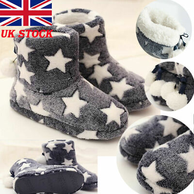 £11.99 • Buy Ladies Slippers Women Girls Winter Warm Fur Luxury Ankle Boots Bootie Shoes Size