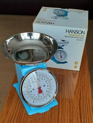 £29.95 • Buy Blue Scales Hanson Traditional 500 Mechanical Kitchen Large Easy Read Display