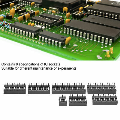 £6.95 • Buy 66Pcs 2.54mm IC Chip Socket Integrated Circuit Components For Integrated Circuit