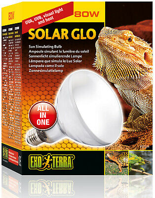 £44.50 • Buy Exo Terra SolarGlo Lamp 80W Heat And UVB Lamp For Reptiles And Amphibians