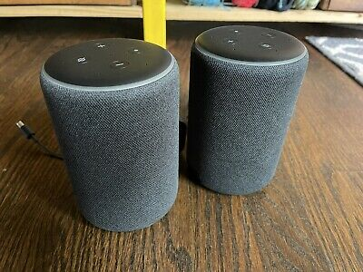AU64.39 • Buy Amazon Echo 3rd Gen Smart Speaker PAIR With Alexa - Charcoal (2 Devices)