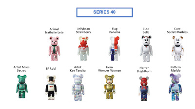 $85 • Buy BEARBRICK Series 40 100% Be@rbrick Lot Of 11 Includes Secrets Free US Shipping