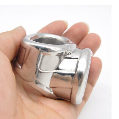 £16.59 • Buy Stainless Steel Male Chastity Ball Protector Time Delay Ring Ball Stretchers