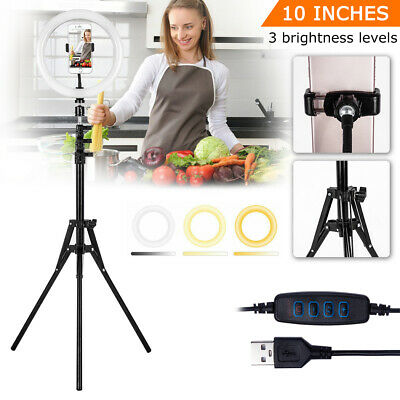AU9.99 • Buy 2PCS LED Dimmable Ring Light Tripod Stand Phone Holder Selfie Make Up Video Live