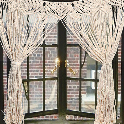 $23.99 • Buy Large Macrame Wall Hanging Tapestry Home Window Curtain Wedding Deco
