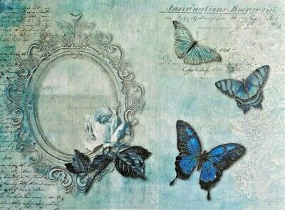 £1.89 • Buy Rice Paper For Decoupage Scrapbook Craft Butterfly Rosa 446
