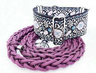 £29.99 • Buy Martingale Greyhound Adjustable 2'' Collar And Lead  Whippet Saluki Galgo