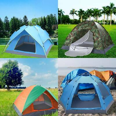 £13.99 • Buy Large 2-4 Man Person Tent Pop UP Camping Waterproof Automatic Family Outdoor UK
