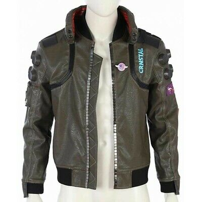 $ CDN169.83 • Buy Cyberpunk 2077 Costume Jacket Mens Leather Embroidery With Free Shipping