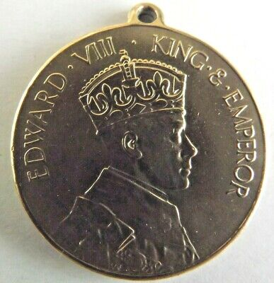 £10 • Buy 1937 King Edward VIII Coronation Medal Brass Rowntrees  Cocoa